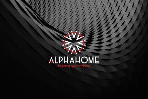 Thiết kế logo công ty xây dựng Alpha Home